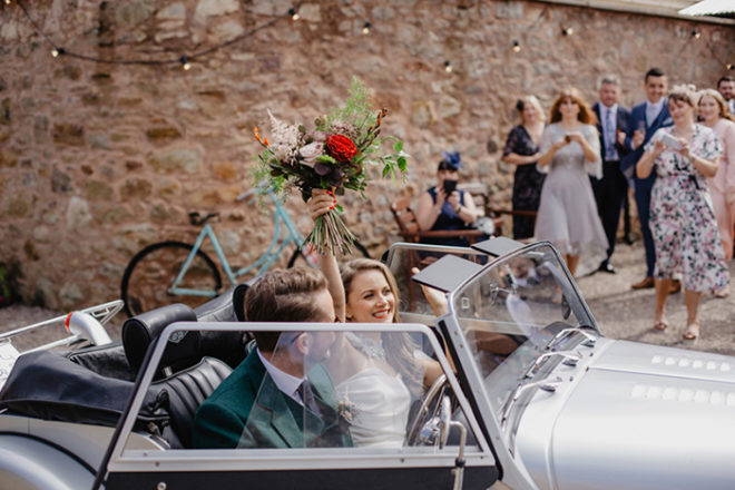 Featured Image for River City star Holly Jack's cool + laid back wedding day at The Cow Shed Crail