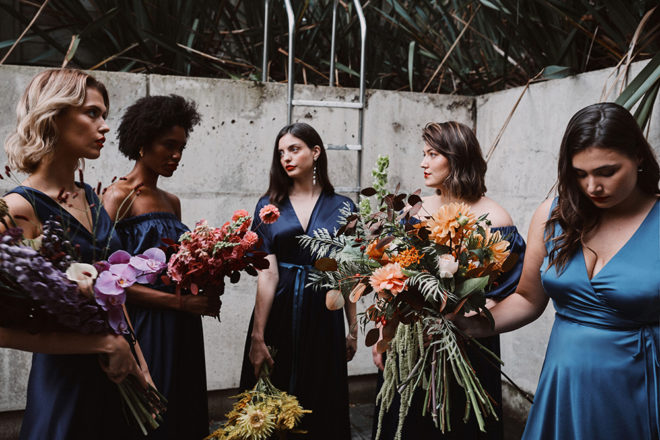 Featured Image for Kate Halfpenny has created the cool girl bridesmaid dresses of our dreams
