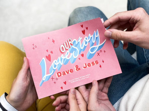 'Our Love Story' Personalised Mini Book