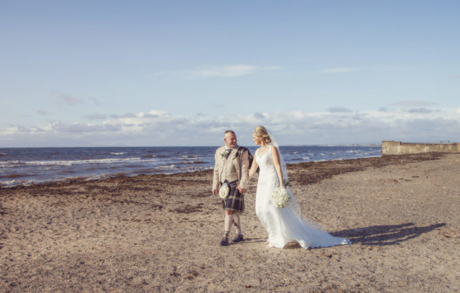 Featured Image for Beachy wedding photos are possible in Scotland at The Carlton Hotel, Prestwick