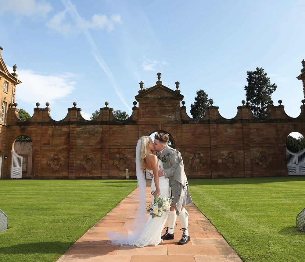 Featured Image for X Factor star Nicky McDonald's chic wedding at Chatelherault Country Park, Hamilton