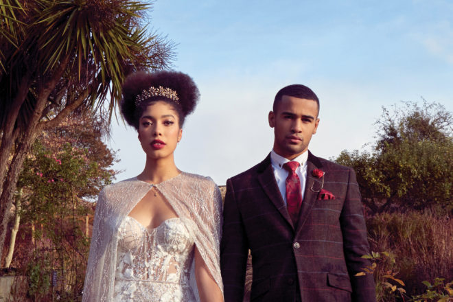 Featured Image for The New Royals: Glamorous bride + groom photoshoot at luxe Cambo Estate
