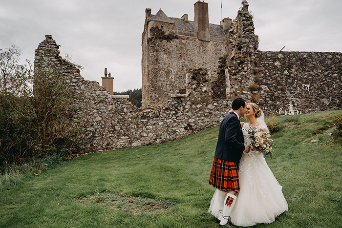 Featured Image for Atmospheric + romantic wedding day at Neidpath Castle, Peebles