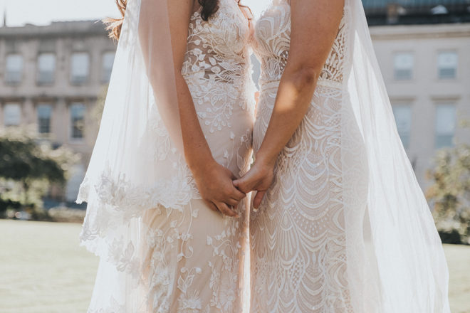 Featured Image for Dress Stories: Sinead and Stephanie's gorgeous complementary Made With Love Bridal dresses