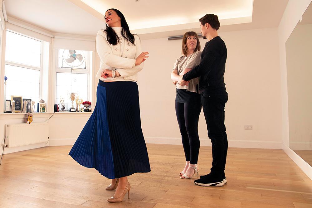 Katie tries dancing