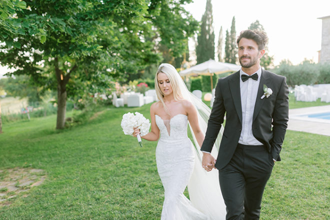 Featured Image for Glamorous all-white-everything destination wedding at Castello Di Montignano, Italy