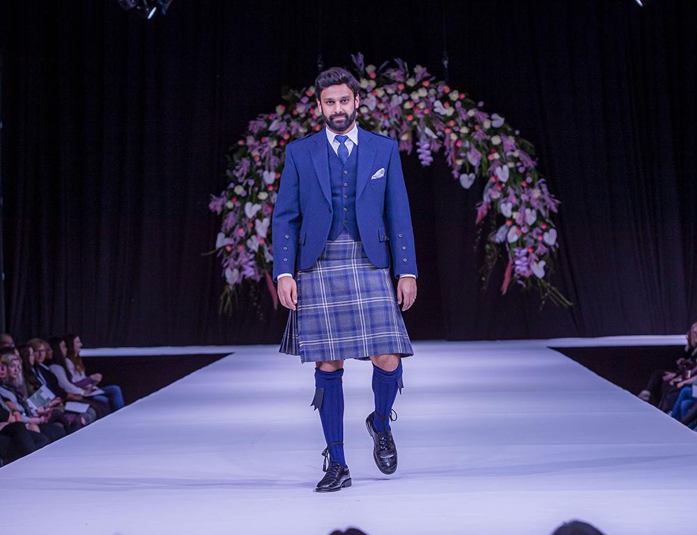 Slater Menswear Scottish Wedding Show Grooms Kilt Suit