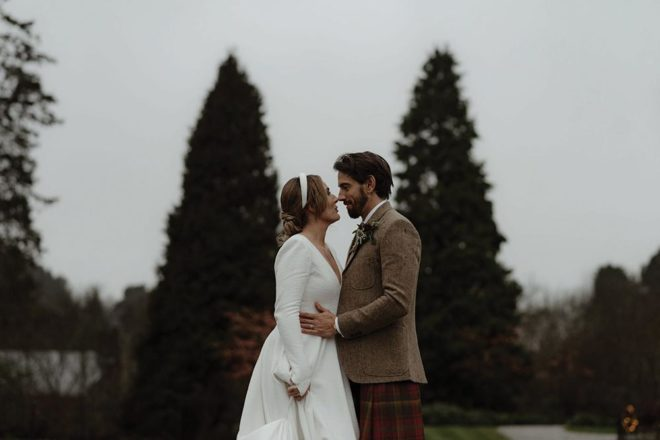 Featured Image for A Crossbasket Castle wedding in winter with a burgundy and gold theme