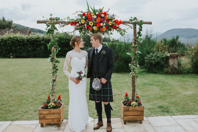 Featured Image for A small, intimate Scottish wedding at stylish design-led venue Dun Aluinn