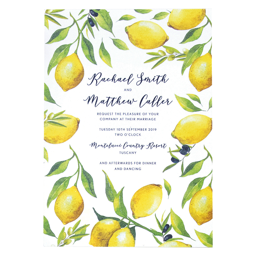 Lemon colour wedding theme