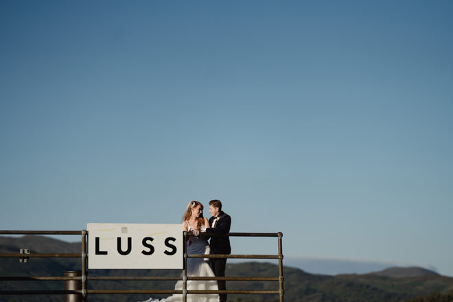 Featured Image for Glamorous rose gold + blush pink Loch Lomond Arms Hotel wedding