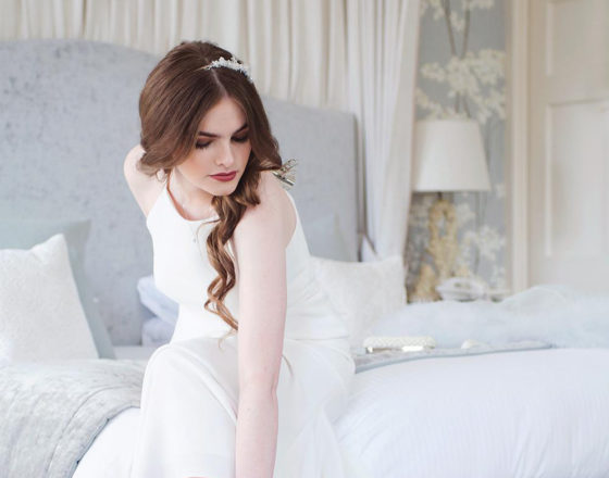 Featured Image for Pastel blue wedding shoot at the Balbirnie House Pearl Suite