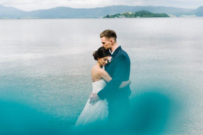 Featured Image for Footballer Fraser Kerr + ballet artist Emma Price's wedding at The Cruin Loch Lomond