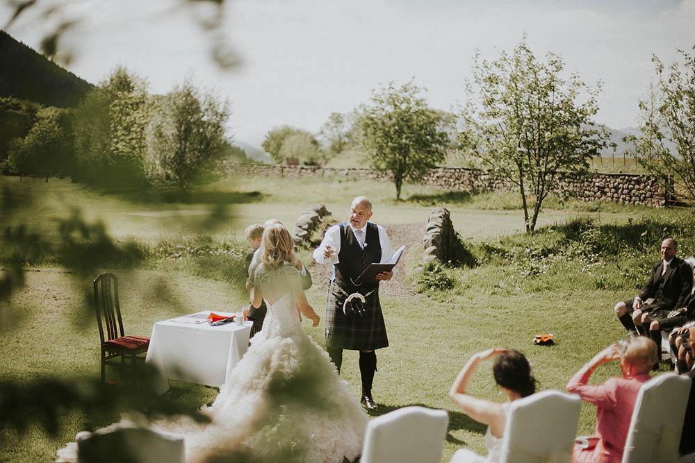 Intimate Wedding Ceremony in Glencoe