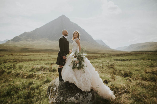 Featured Image for Our Scottish Elopement: An intimate wedding ceremony in Glencoe, followed by a big reception
