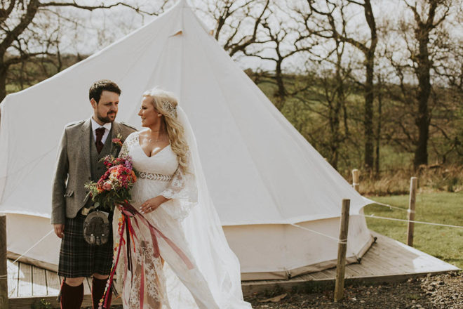 Featured Image for An Eden Leisure Village wedding with a boho festival theme