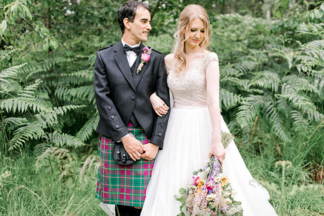 Featured Image for A cute, colourful Glentruim Estate wedding with DIY details