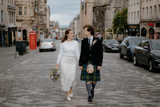Featured Image for Our Scottish Elopement: A lockdown-postponed wedding at Dunbar's Close, Edinburgh