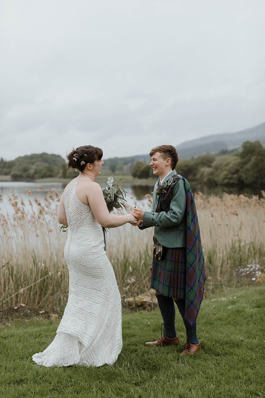 Scottish Elopement at Bluebell Wood in Glen Finglas Loch Lomond