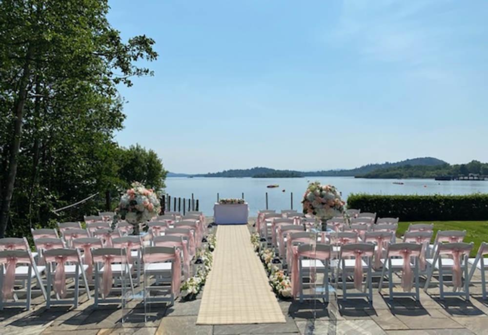 Lodge on Loch Lomond Outdoor Wedding