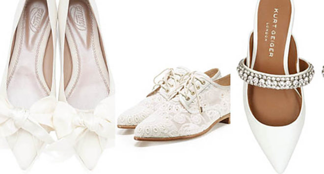 Featured Image for The prettiest flat wedding shoes for brides
