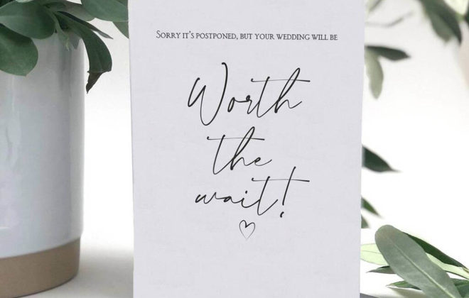 Featured Image for 9 Happy Would Be Wedding Date cards for couples who have postponed