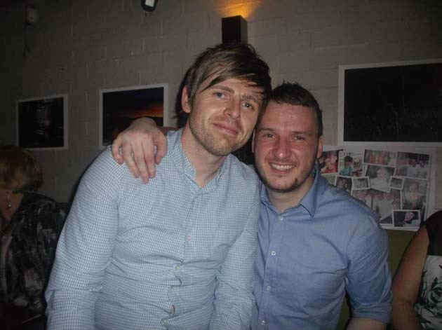 Barry and his best man Rab