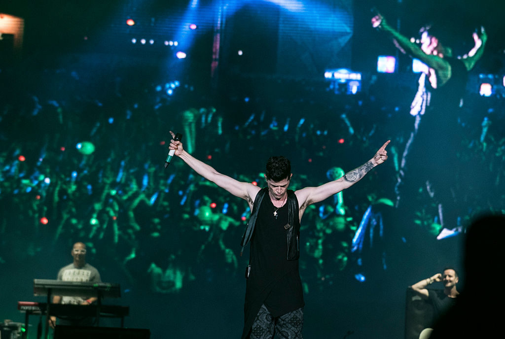 Danny O'Donoghue from The Script performs at 2015 Rock in Rio. Photo by Raphael Dias/Getty Images