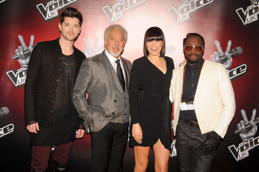 Coaches Danny O'Donoghue, Sir Tom Jones, Jessie J and will.i.am at the launch of The Voice
