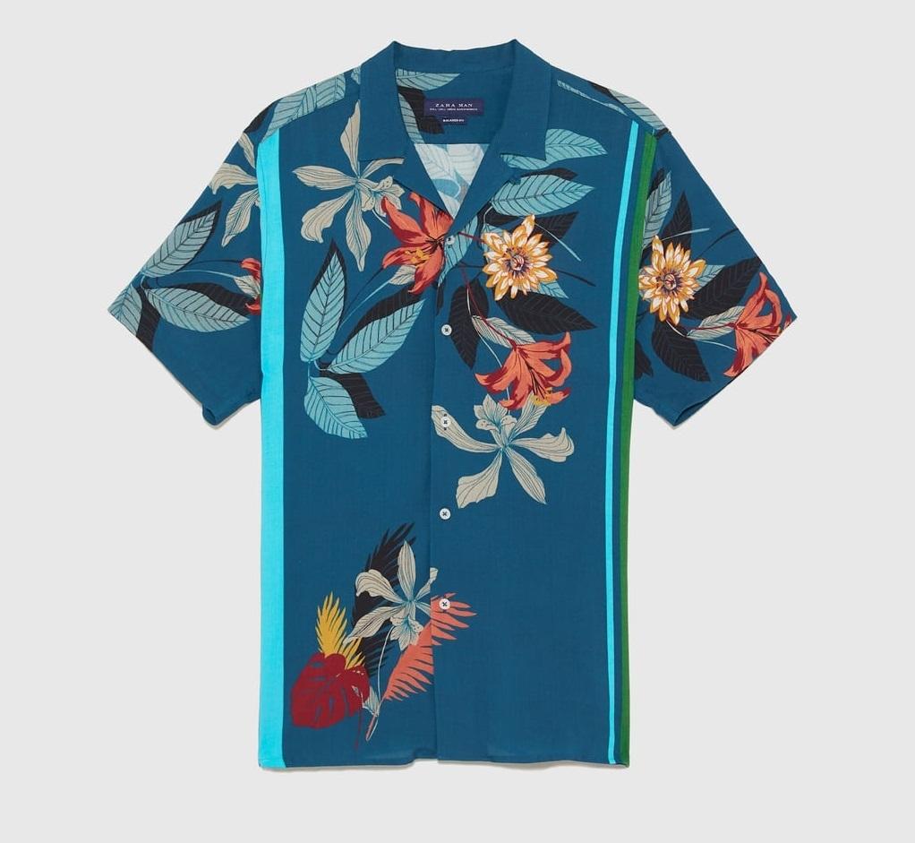 floral shirt men summer trend zara