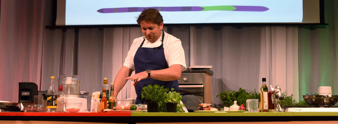 Tickets for James Martin's cooking demonstrations sold out in less than an hour.