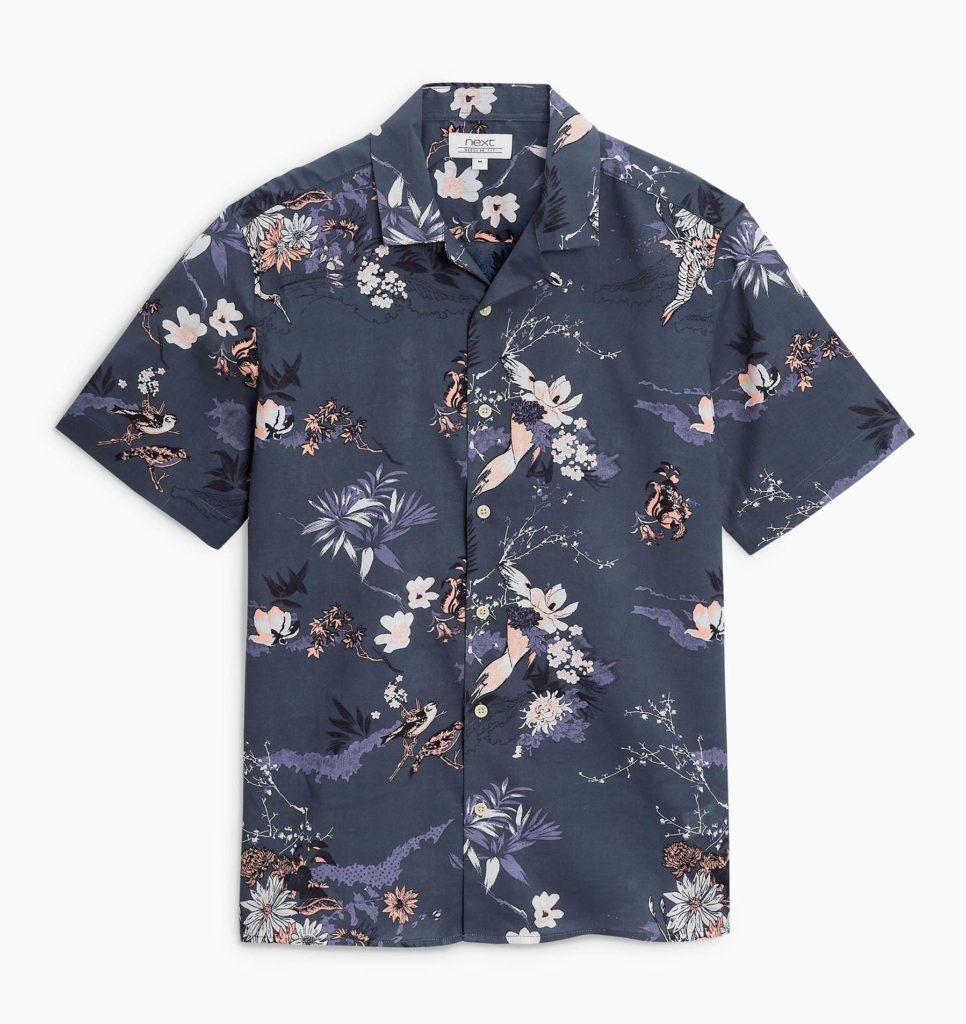 navy floral shirt mens