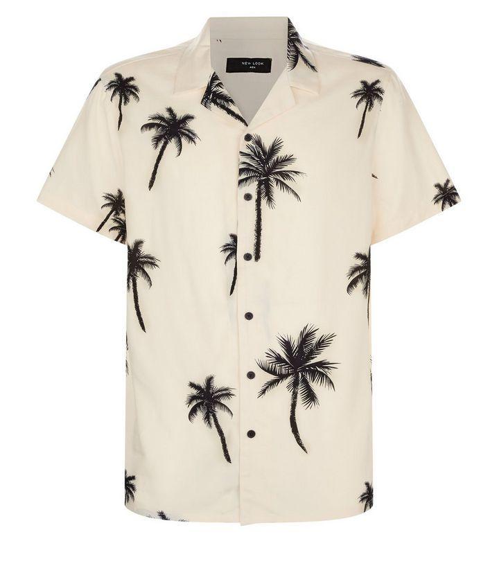 palm, floral, shirt, trend mens