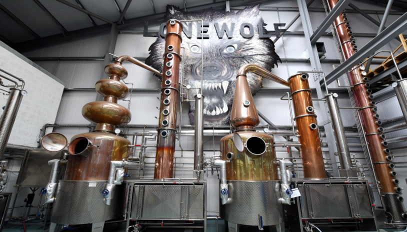 Lone Wolf's distillery in Ellon