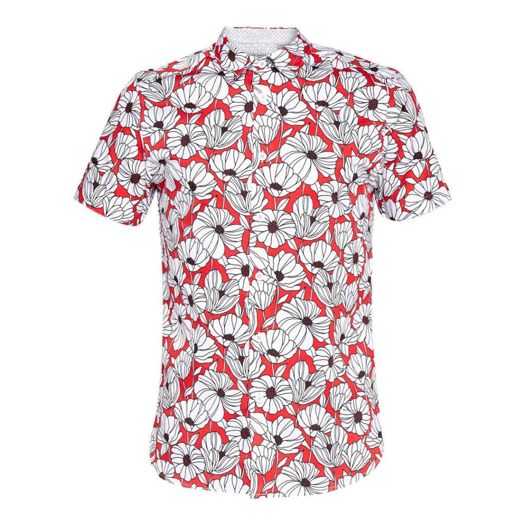 ted baker, floral shirt mens