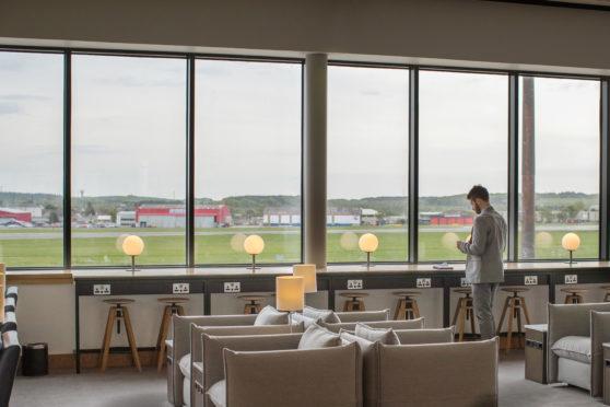 New British Airways lounge at Aberdeen International Airport