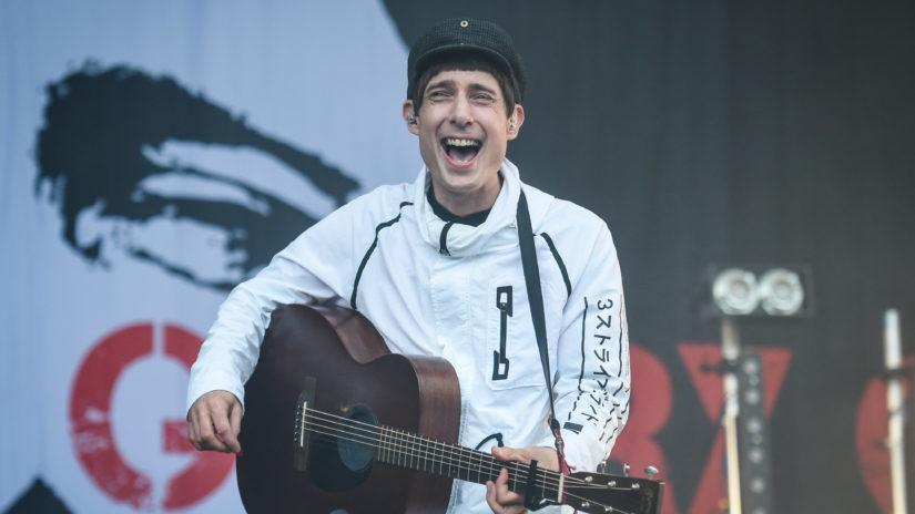 Gerry Cinnamon performs on the Garden Stage.