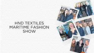 Gallery: HND Textiles Maritime Fashion Show @ Aberdeen Maritime Museum