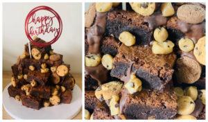 Aberdeen baker creates overloaded cookie dough brownie stack