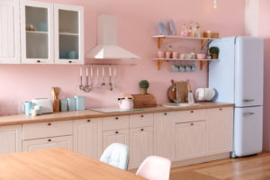 Add pastel colours to your north-east kitchen