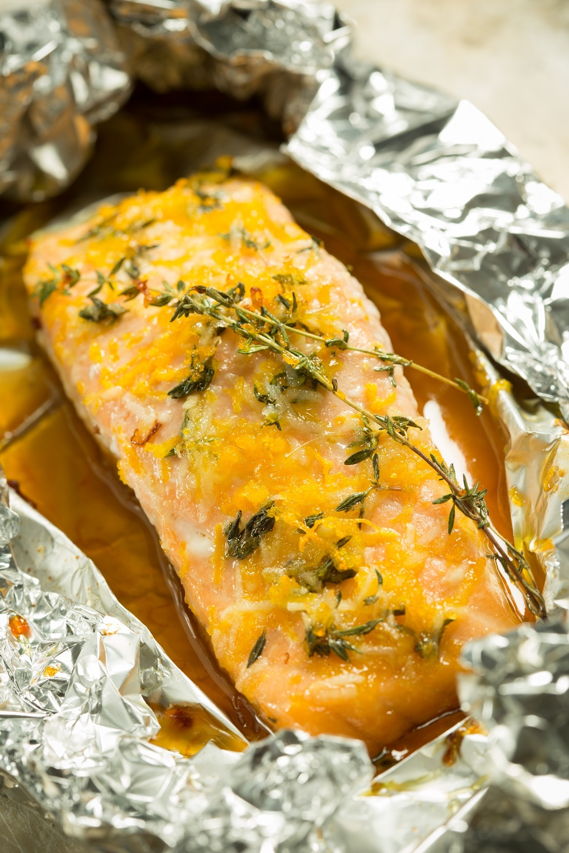 foil baked salmon
