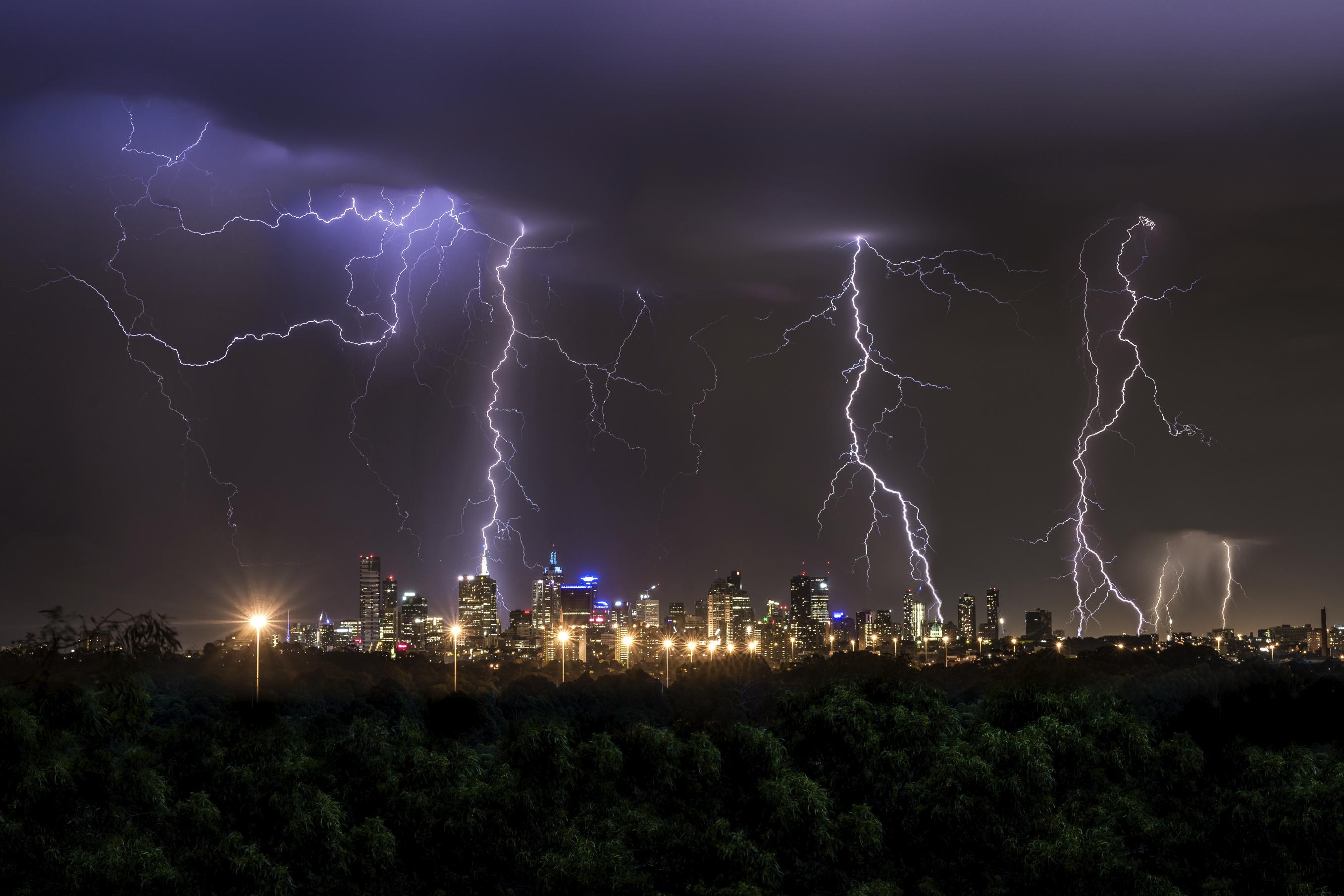 Thunderstorm over Melbourne