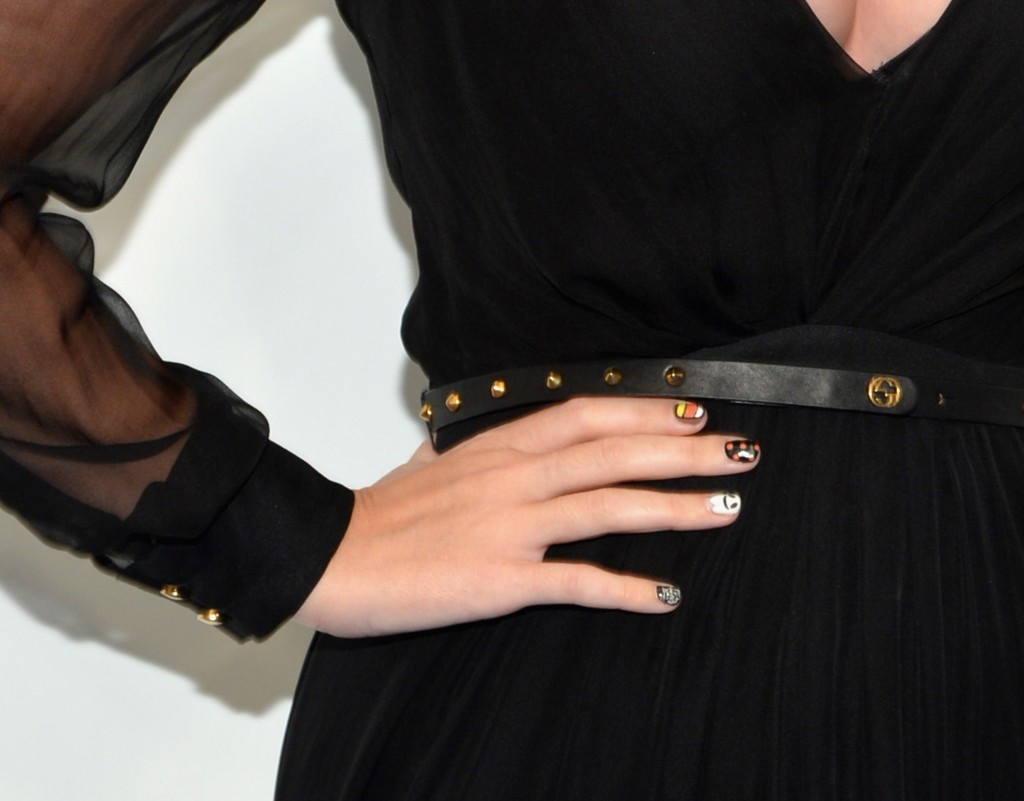 Katy Perry's nails (Photo by Mike Coppola/Getty Images)