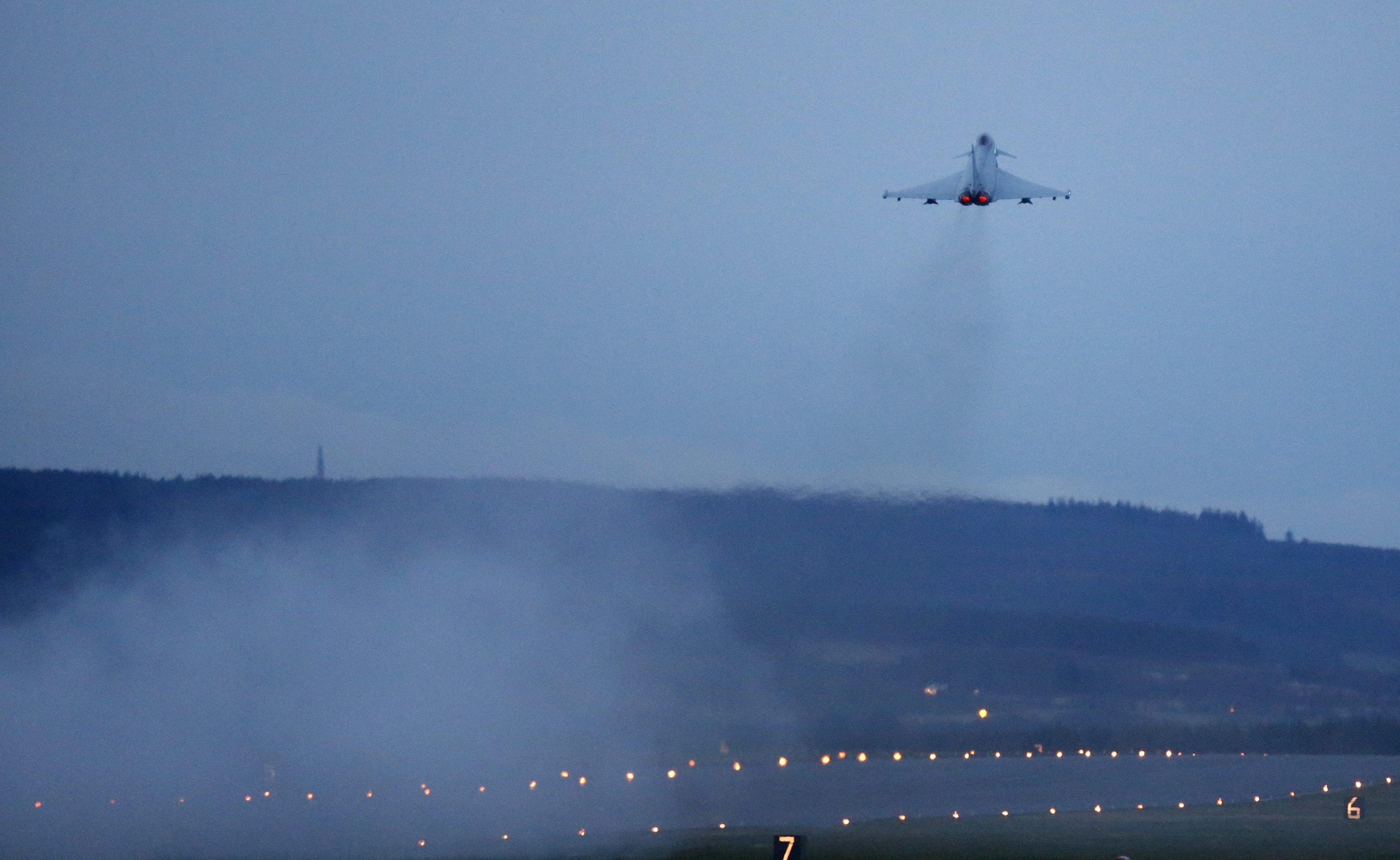 Typhoon jet taking off from Lossiemouth (Danny Lawson/PA Wire)