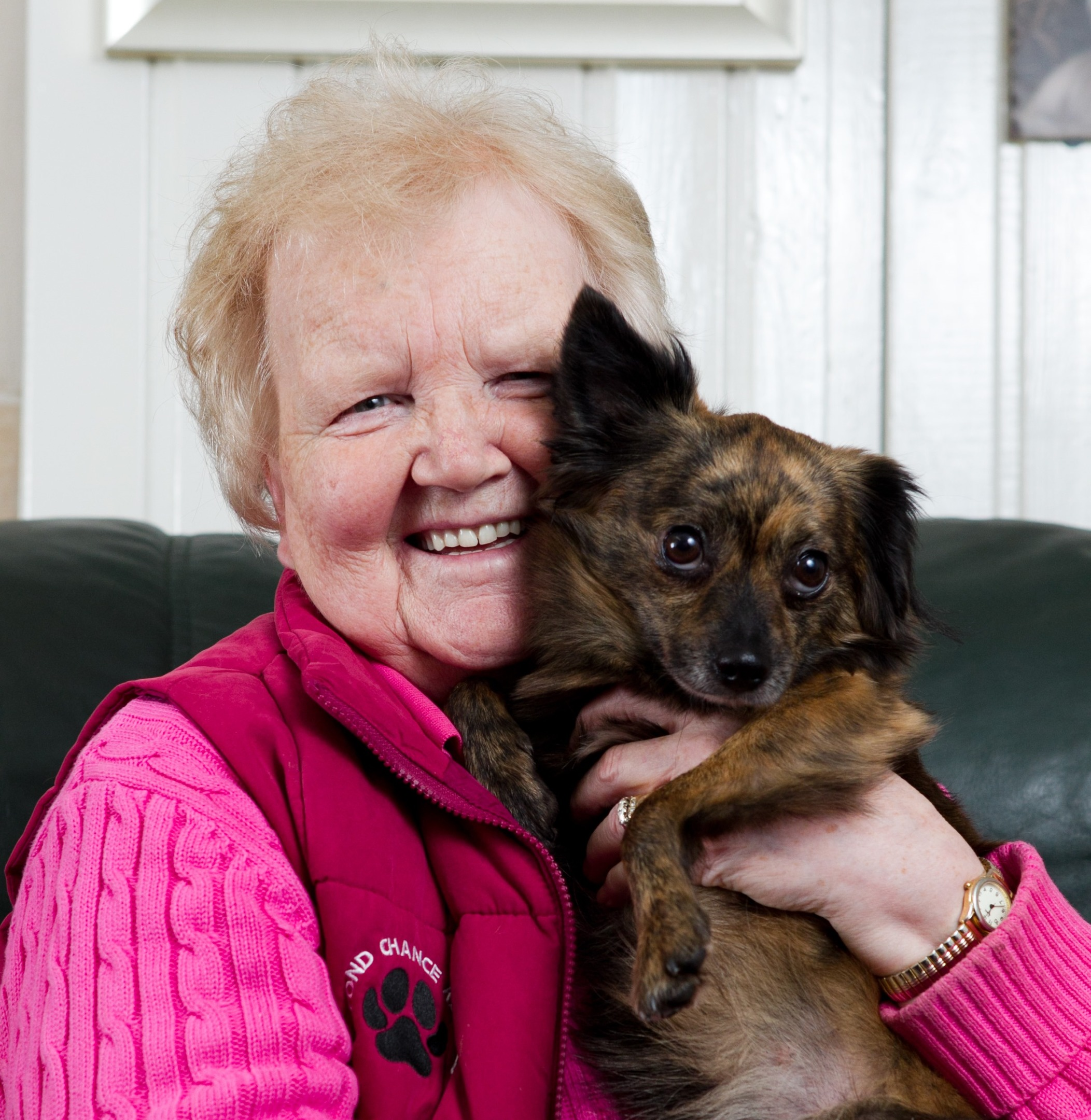 Ena Conyon and her dog, Dana, who was lost for over two weeks (Andrew Cawley / DC Thomson)