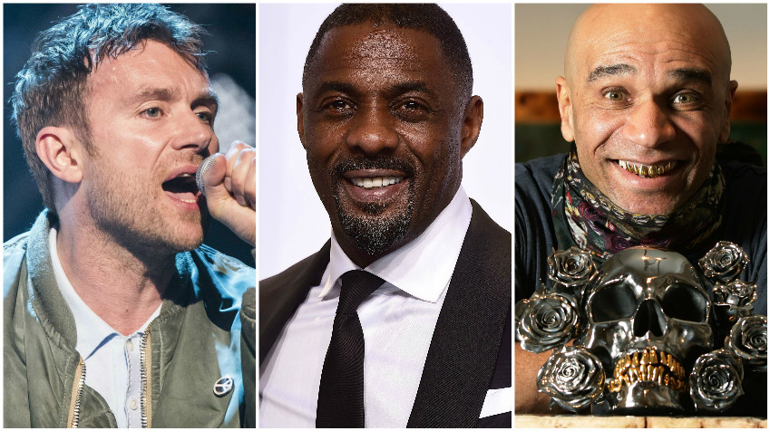 Blur's Damon Albarn, Idris Elba and Goldie (L-R) (PA Wire)