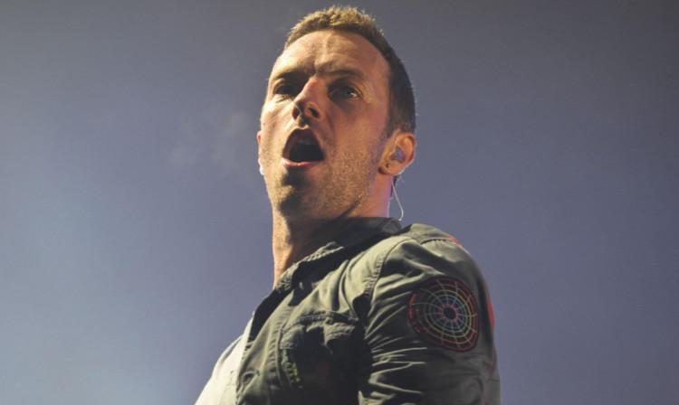 Chris Martin of Coldplay.