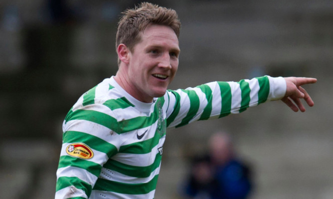 Kris Commons in action for Celtic.