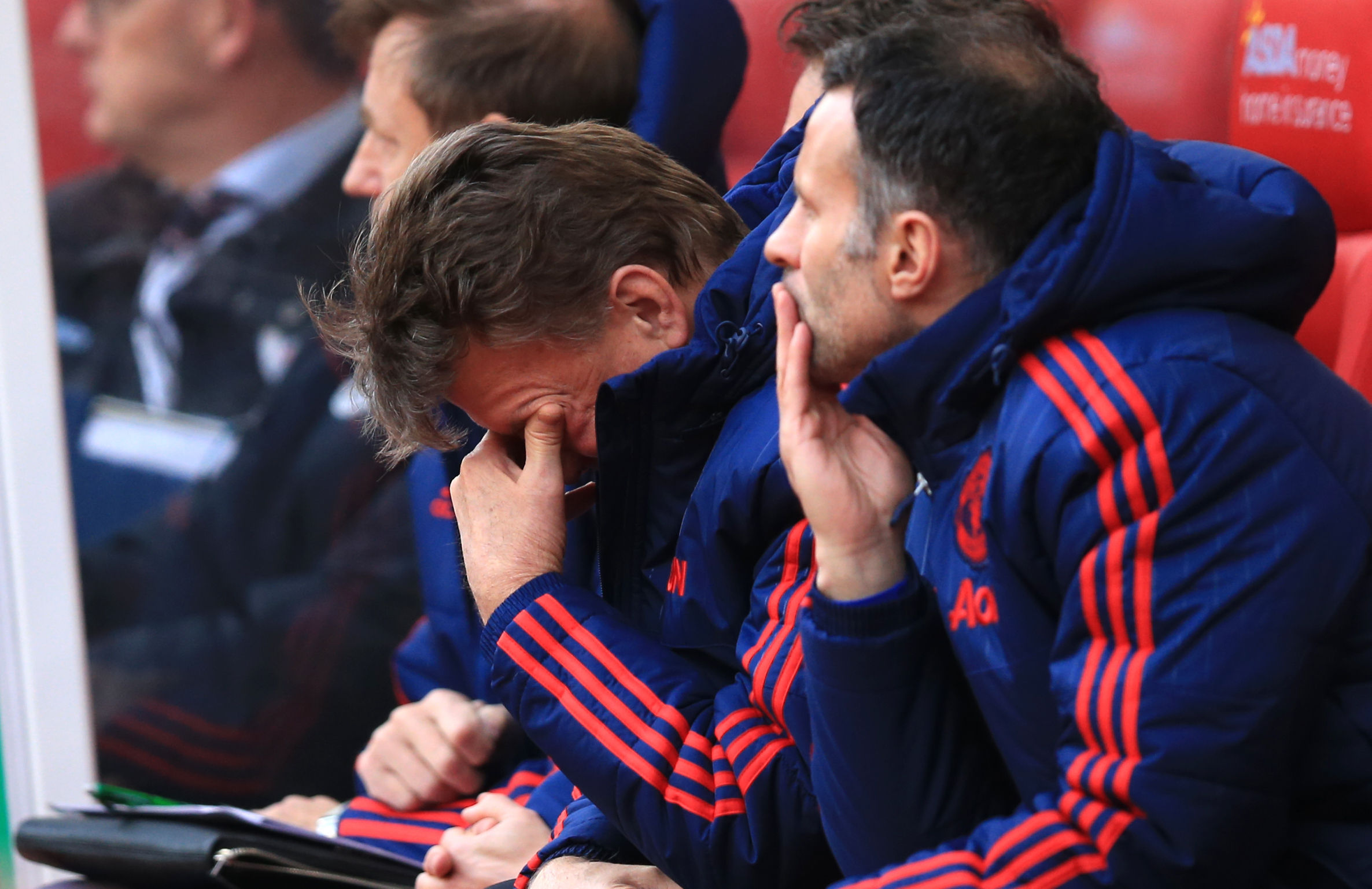 Louis van Gaal has been feeling the pressure as results have faltered. (PA)