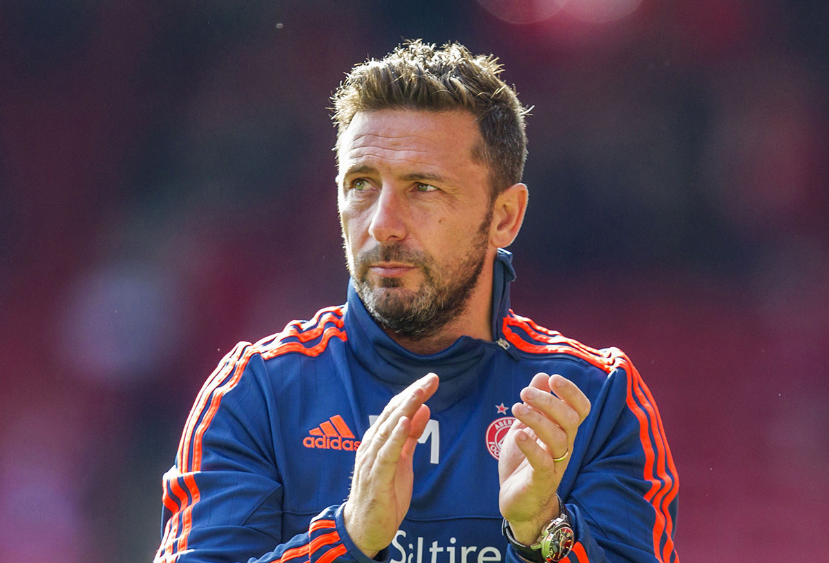Aberdeen manager Derek McInnes (SNS Group / Roddy Scott)